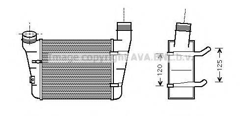 AVA QUALITY COOLING AIA4221 Интеркулер